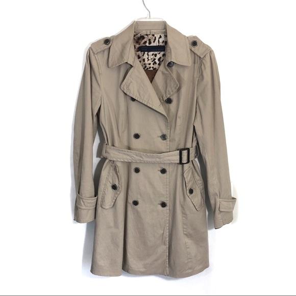 193d40cf Zara Jackets & Coats | Tan Long Double Breasted Long Trench Coat ...